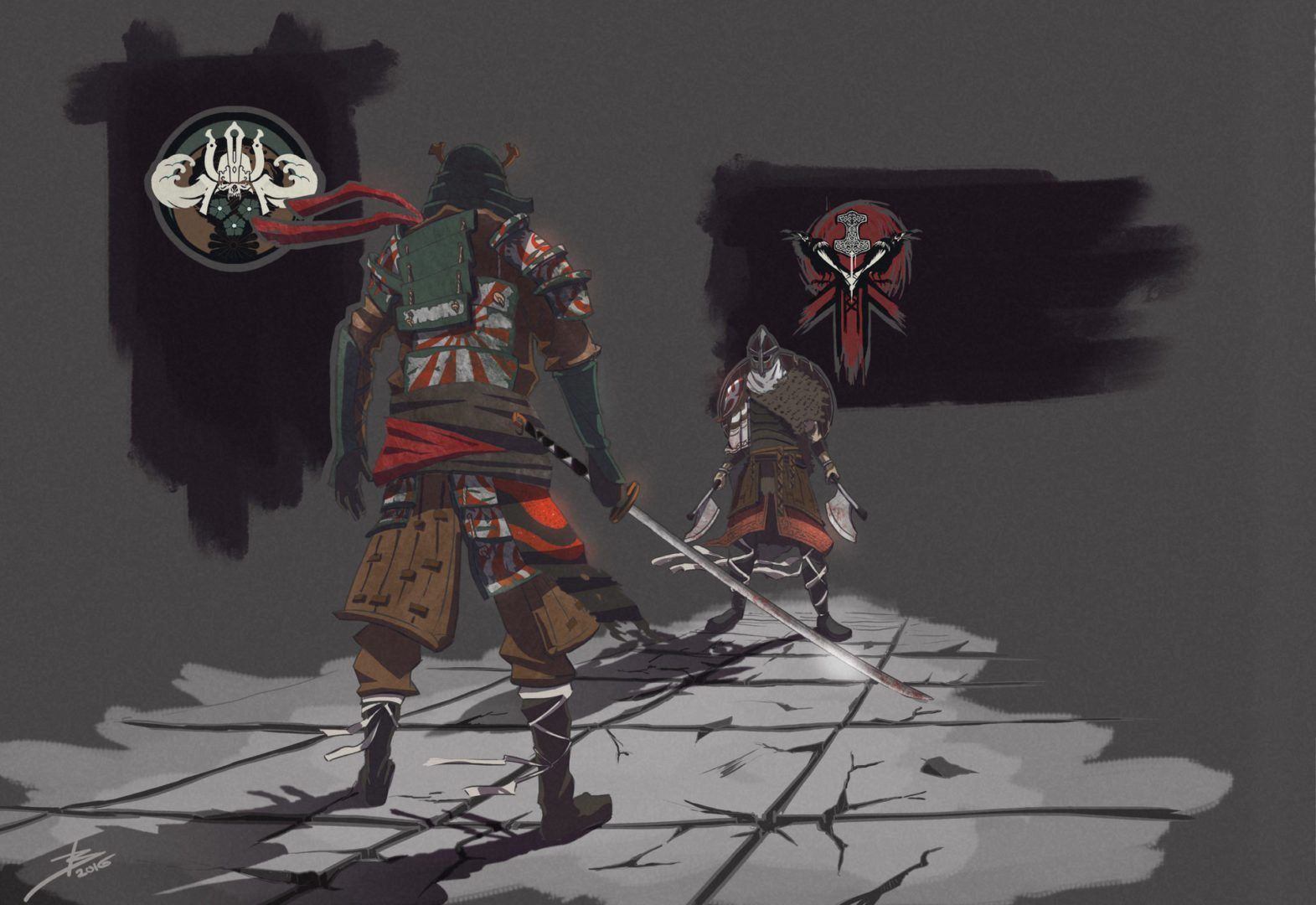 Samurai vs Viking For Honor