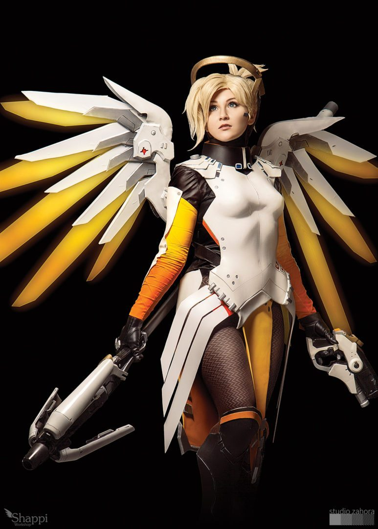 Aleksandra Overwatch cosplay showcase - mercy from overwatch - mmoexaminer